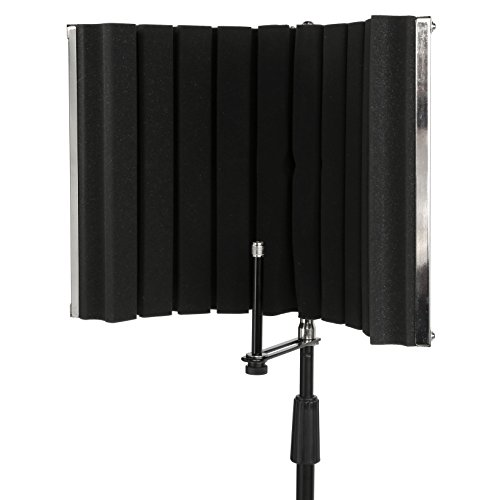LyxPro VRI-30 - Portable & Foldable Sound Absorbing Vocal Recording Panel - Stand Mount (Sound Booth Portable compare prices)