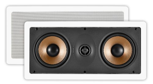 Osd Audio Iw545 Dual 5.25-Inch Polypropylene Home Theatre In-Wall Center Channel Lcr Speaker, Single