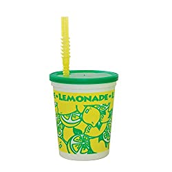 Perfect Stix Souvenir32-10 Tall Souvenir Cup with Lids and Bendable Straws, 32 oz. ( Pack of 10 Cups Straws and Lids) (Pack of 10)