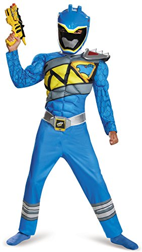 Disguise Blue Ranger Dino Charge Classic Muscle Costume, Small (4-6) (Power Rangers Blue Costume compare prices)