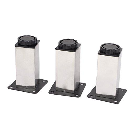 100 mm Höhenverstellbarer Schrank, Sofa, Tisch Bein Füße Runde Ständer 3PCS