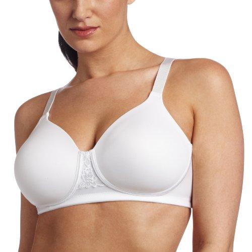 Vanity Fair Women's Beauty Back Full Figure Wirefree Bra 71380, Star White, 44DD