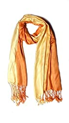Anuze Fashions Tie Dye Peach Puff & Orange Coloured Design Stole