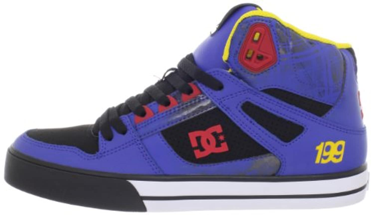 DC Men's Spartan Hi WC TP Sneaker,Black/Royal,10 M US
