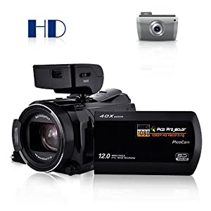 10MP HD Camcorder + Mini Projector (Ordro HDV-D350S) High Definition Camera
