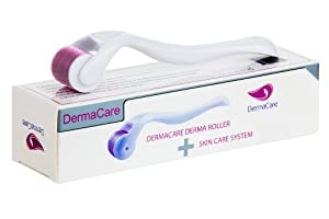 """Best Derma Roller For Removal Of Scars, Wrinkles, Blemishes, Dark Spots & Deep Pore Refinement - The DermaCare Microneedle Roller Skin Care System Uses The Highest Grade Materials & Includes A FREE Protective Carrying Case. Comes With Special Cellulite Reduction *BONUS* & FREE Report (""""5 Keys To Kill Cellulite""""). CE Approved. No Hassle 30 Day Return. Product Guarantee."""