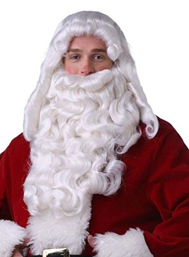 Popcandy Professional Super Deluxe Long Santa Wig & Beard Set for Christmas (Child Santa Wig And Beard)