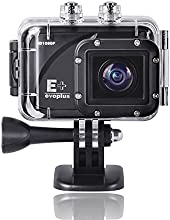 "Evoplus Mirage 60m Waterproof Underwater 1080p 1.5"" Hd Full LCD 12mp 170 Degree Wide-angle Lens Anti-shake Sports Action Outdoor Diving Motorcycle Ski Bicycle Cycle Helmet Camera Camcorder Video Audio Recorder Dv Cam Car Dvr Recorder Digital X4 Zoom Mini Size Portable Micro USB 2.0 Micro Hdmi Support 32g Tf Card 1000mah Rechargeable Battery"