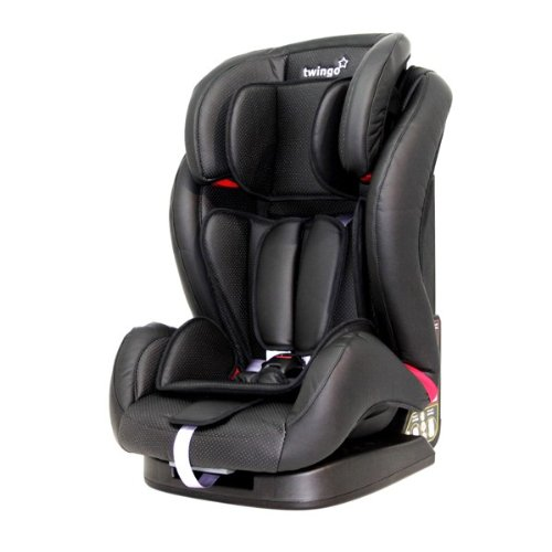 Twingo Group 123 Car Seat (1-12 Years) - Luxury Black Faux Leather