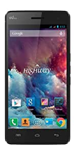 Wiko Highway Smartphone 3G+/3G USB Android 4.2.2 Jelly Bean 16 Go Noir
