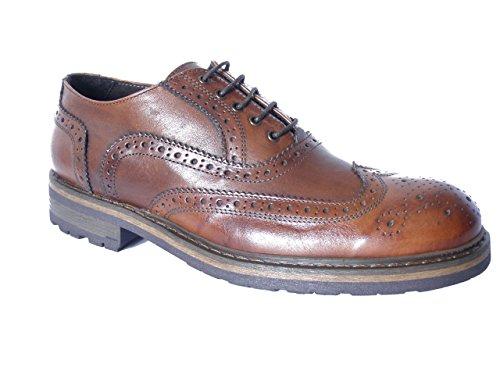 Scarpa Uomo Exton, modello stringata inglese, in pelle e suola gomma