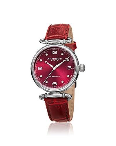 Akribos XXIV Women's AK878BUR Velvet Burgundy Leather Watch