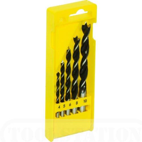 5PC BRAD POINT DRILL BIT SET - 4mm,5mm,6mm,8mm,10mm