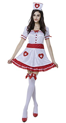 JustinCostume Women's Sexy Nurse Cosplay Outfits Halloween Costumes