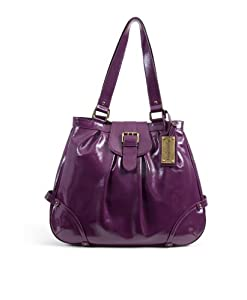timi & leslie Ruby Leather Convertible Baby Bag - Eggplant