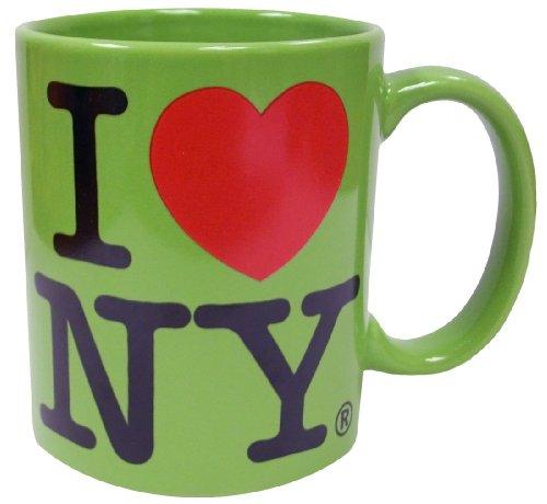 I Love Ny Lime 11 Oz Coffee Mug, Microwave And Dishwasher Safe