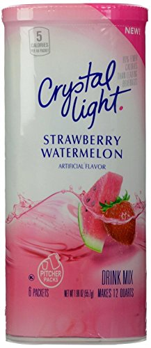 Crystal Light Strawberry Watermelon Drink Mix, 12-Quart Canister (Pack of 21) miracle gro potting mix 16 quart currently ships to select northeastern