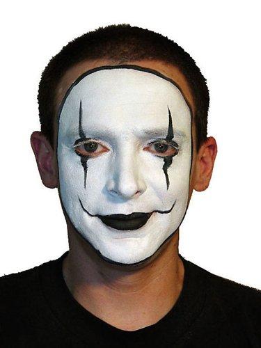 White Cream Costume Makeup Happy Mime Makeup