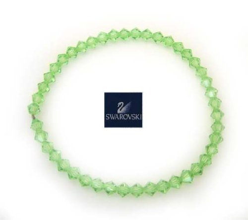 "7"" Stretch Authentic Genuine Austria Swarovski Peridot Bracelet"