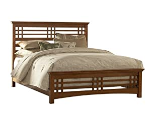 Leggett & Platt Fashion Bed Group Avery Bed Frame, Queen, Brown