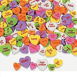 Assorted Craft Foam Conversation Heart Beads (500 pieces per unit) - 1