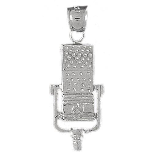 Clevereve's 14K White Gold Charm Musical Instruments 3.1 - Gram(s)