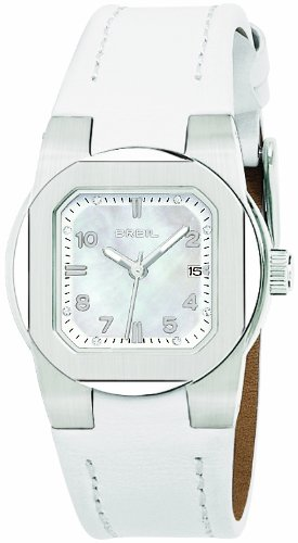 Breil Women's Watch Analogue Quartz TW0593 White Leather Strap Nacre Dial