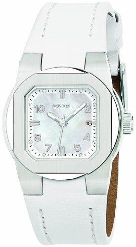 Breil Women's Watch Analogue Quartz TW0593 White Leather Strap Nacre Dial