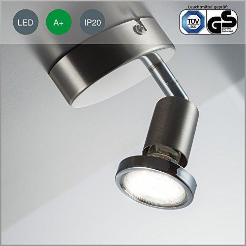 led-decken-strahler-decken-leuchte-spot-gu10-3-watt-250-lumen-schwenkbar-inkl-chromring-matt-nickel