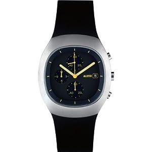 Alessi AL21010 - Reloj unisex de plástico Resistente al agua negro