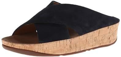 FitFlop Women's KYS Suede Dress Sandal,Navy,9 M US