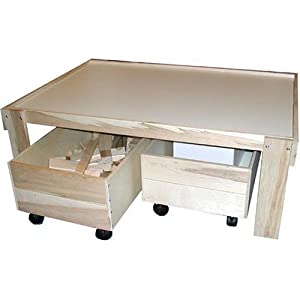 Beka Train Table with Top and Two Trundles by Beka