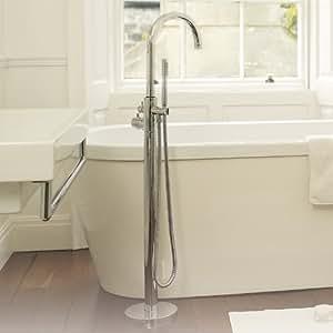 PN322 - Mitigeur Thermostatique Tec Elite bain/douche Îlot en laiton massif chromé, style contemporain