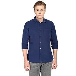Hueman Navy Full Sleeve Cotton Shirt