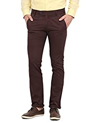 Ennoble Brown 2 Ply Chinos 30