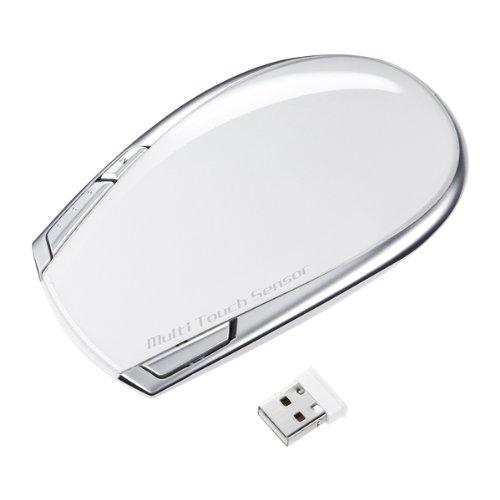 SANWA SUPPLY ワイヤレスタッチセンサーマウス Mac専用・ホワイト MA-TOUCH2MAC