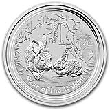2011 Australian Lunar Series II - Year of the Rabbit (1/2 Ounce Silver Coin)