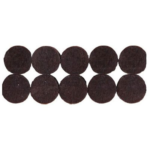 Shepherd Hardware 9861 3/4-Inch Heavy Duty Self-Adhesive Felt Furniture Pads, 20-Pack, Brown (Felt Floor Protection compare prices)