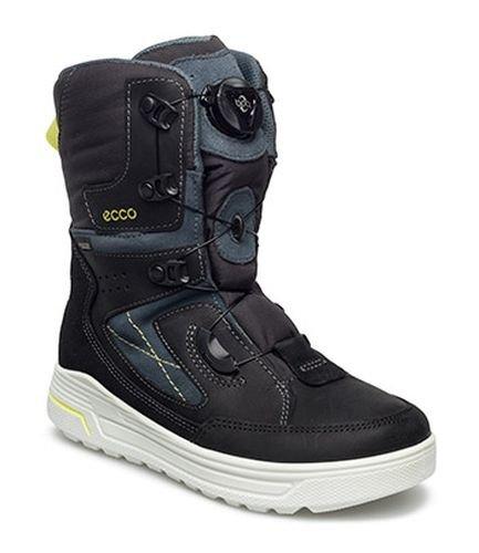 Ecco Urban Snowboard, Stivali da Neve Bambino, Nero (Black/Pavement/BLACK50137), 37 EU