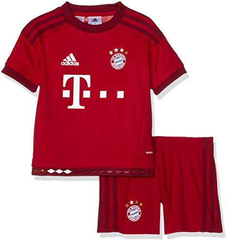 adidas, Maglia a maniche corte e pantaloncini da calcio FC Bayern Bambino, Rosso (Mehrfarbig), 104 cm