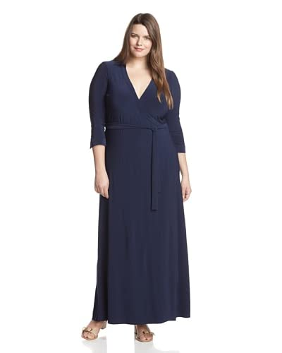 JB by Julie Brown Women's Plus Jasper Wrap Maxi Dress