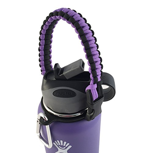 Hydro Flask Water Bottle Carrier, America's #1 Paracord Handle Attaches to Almost Anything, Never Again Drop or Lose Your Bottles