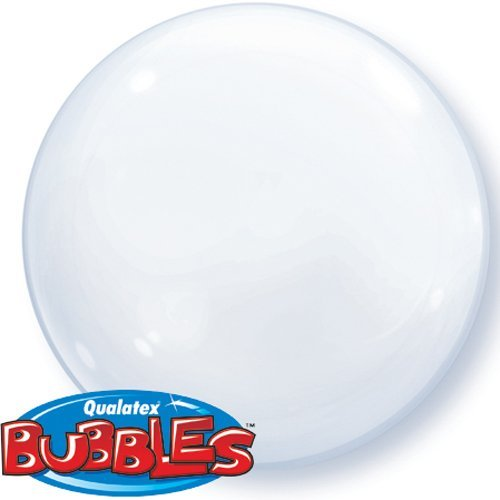 Qualatex 15 Inch Solid Colour Deco Bubble Balloons X 4 - White