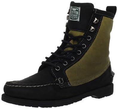 Sebago Men's Kettle Boot, Black/Wax Canvas, 8 M US