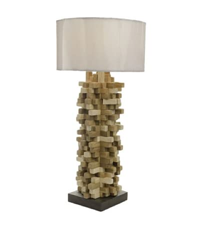 Foreign Affairs Spikes 1-Light Table Lamp, White