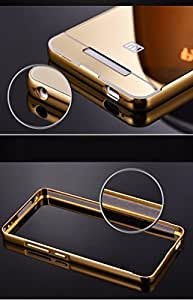 AA19 Branded Luxury Metal Bumper Acrylic Mirror Back Case For Xiaomi Mi4i Mi 4i - Grey Plated