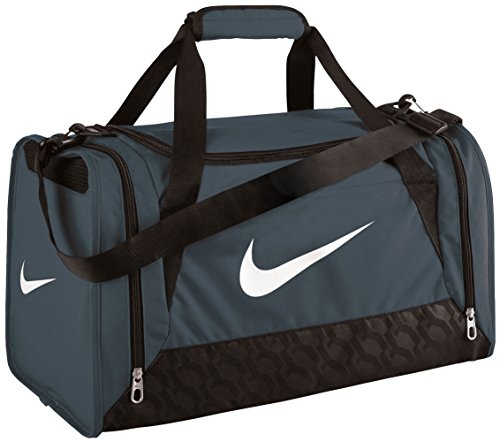 NIKE Brasilia 6 Small Duffel Bag, Grey