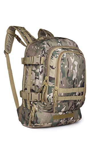 40L Outdoor Expandable Tactical Backpack Military Sport Camping Hiking Trekking Bag (Multicam 08002B) (Backpacks Good For Back compare prices)
