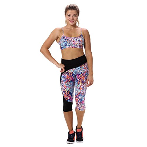 Lookatool Women's High Waist Fitness Yoga Sport Pants (XL, Multicolr 19)