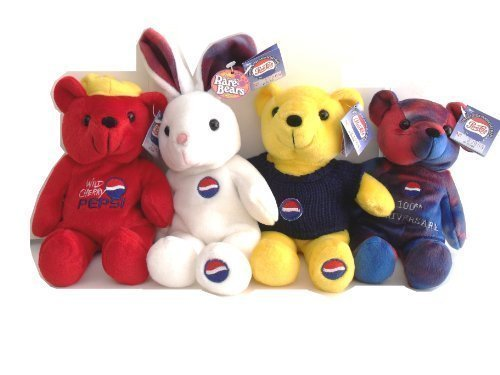 Pepsi Cola 100th Anniversary 1999 Set Four Bears Set by Dart Flipcards Inc. günstig online kaufen